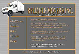 Reliable Movers Website
